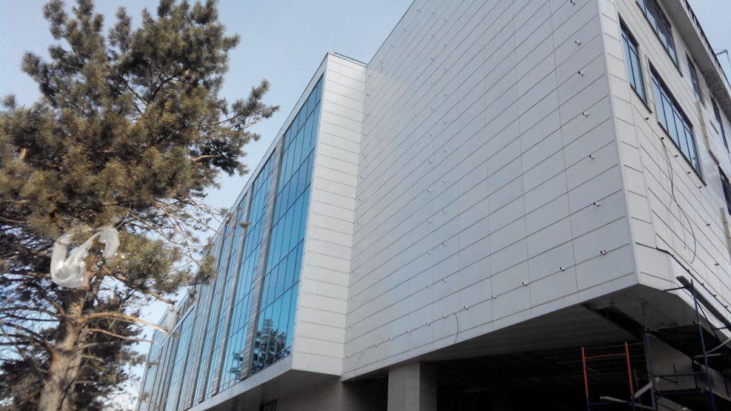 монтаж металлокассет фасады